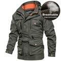 Мужская тактическая куртка, осенняя быстросохнущая военная куртка, Мужская ветровка с капюшоном и несколькими карманами, водонепроницаема...