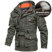 Masculino multi bolsos com capuz blusão jaqueta bombardeiro à prova dplus água casaco militar de secagem rápida outono masculino plus size 4xl