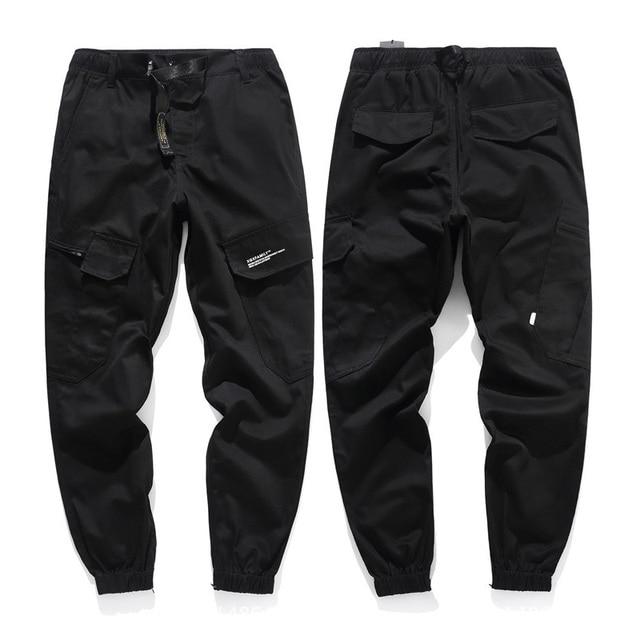 LOMAIYI Camo Joggers Men Cargo Pants Mens Military Black/Camouflage Pants Pure Cotton Men's Cargo Trousers With Pockets BM305 6
