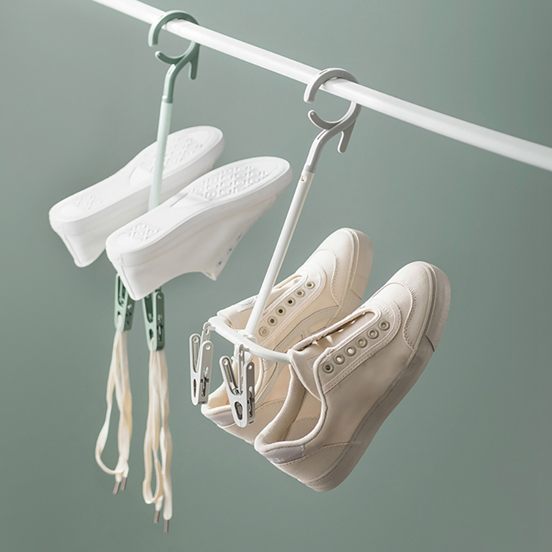 Multifunction Rotating Shoe Rack Rotatable Hanger Windproof Anti-skid With Clip 360 Degree Rotating Shoe Rack9