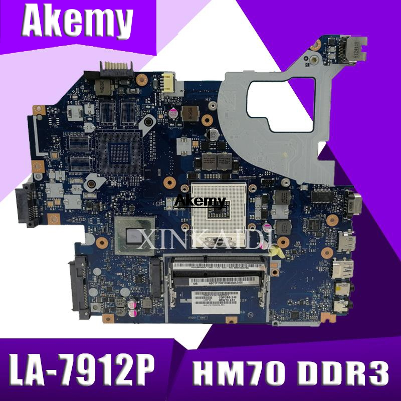 For Acer Aspire V3-571G E1-571G Laptop Motherboard NBC1F11001 Q5WVH LA-7912P SJTNV HM70 DDR3 Free CPU