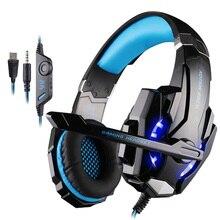 Oyun kulaklıkları büyük kulaklıklar ışık mikrofon Stereo kulaklık derin bas PC bilgisayar oyun dizüstü PS4 yeni X BOX