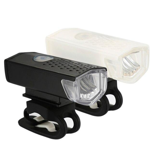 Luz da bicicleta à prova dusb água usb recarregável frente luzes led ciclismo lâmpada tocha guiador lanterna acessórios da bicicleta tslm2 5