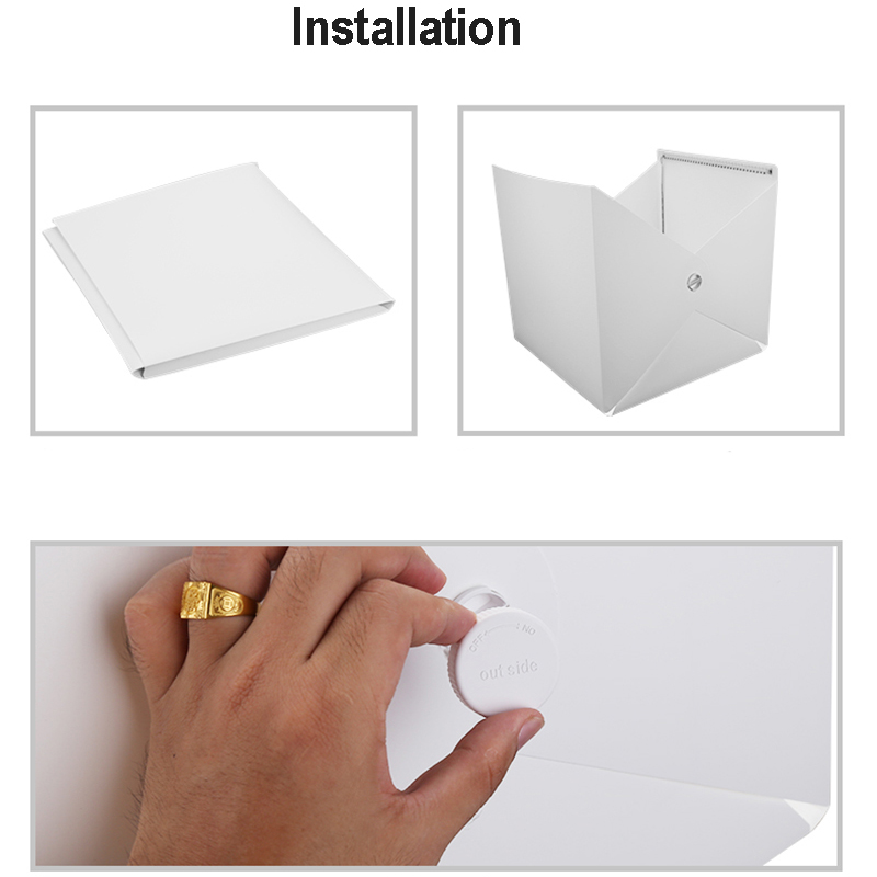 Image 5 - Baolyda Whitebox Photobox Lighting 40*40 2LED Mini  Lightbox Photo Studio Kit for Photography Light Box with 4 Color Backdrops-in Tabletop Shooting from Consumer Electronics
