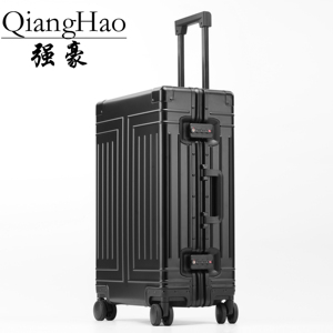 Image 4 - QiangHao brand 100% Aluminum alloy material spinner travel suitcase laptop trolley hand luggage for travelling