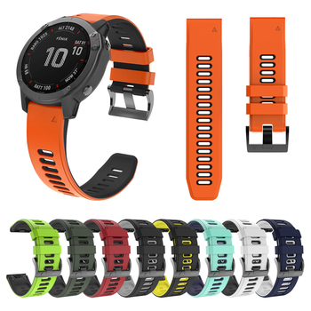 Easyfit Silicone Wrist strap For Garmin Fenix 6X 6 Pro 5 5X Plus 3HR 26mm 22mm Quick Release watchband Fenix5 Fenix6 watch band