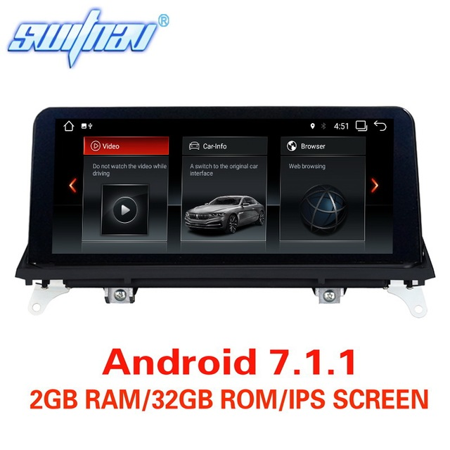 Android 7.1/9.0 รถ DVD สำหรับ BMW X5 E70 BMW X6 E71 เครื่องเล่นมัลติมีเดียสเตอริโอ GPS สเตอริโอ Monitor หน้าจอ IPS CIC CCC ระบบ
