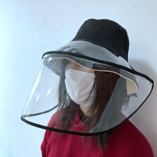 Epidemic Protection Hat Anti Saliva Fog Hat with Face Shield Hat Fisherman's Hat for Women Removable for Men & Women Campi 5