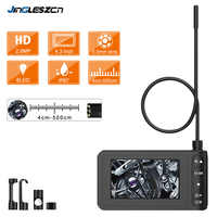 5.5mm Industrial Endoscope 1080P HD 4.3inch Screen IP67 Waterproof Inspection Camera with 6 LED Lights 1700mAh Battery Borescope