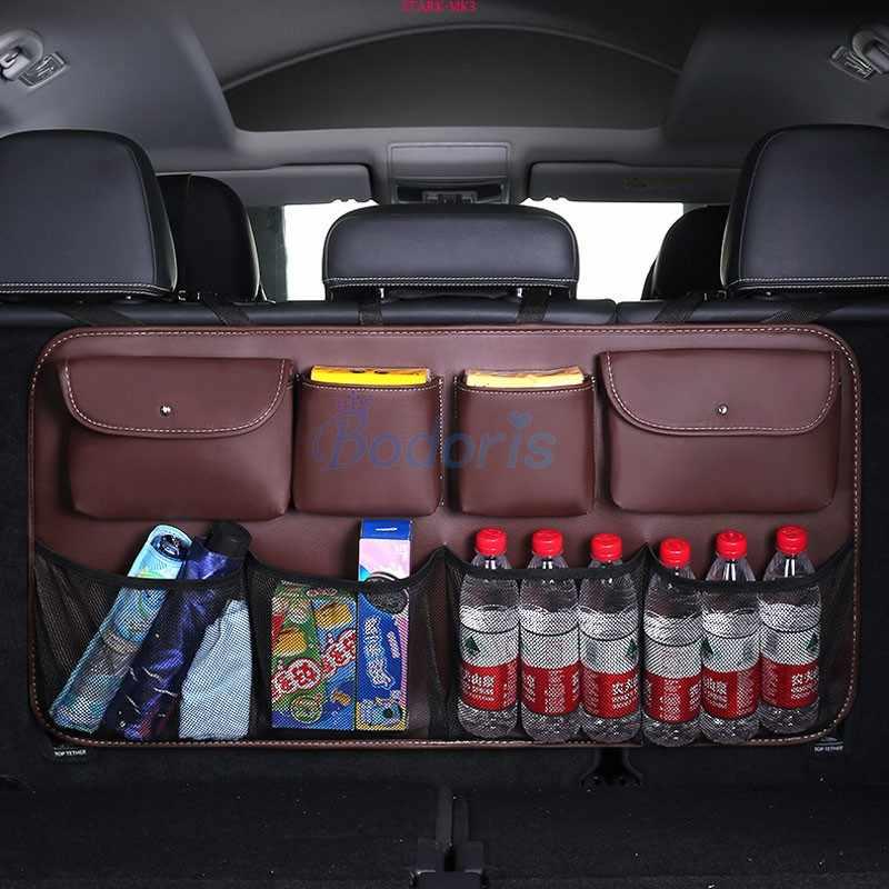 Accessori Per BMW X1 X3 X5 X6 X7 E84 F48 F39 E83 F25 G01 F26 G02 E70 F15 G05 E71 sacchetto di Immagazzinaggio bagagliaio di Reti Portabagagli Auto Organizzatore