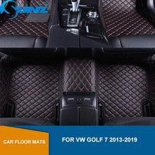 цена на Car floor mats For VW Golf 7 2013 2014 2015 2016 2017 2018 2019 Custom auto foot Pads automobile carpet cover SUNZ