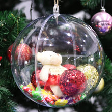 15cm Clear Plastic Acrylic Bath Bomb Mold Shells Molding Balls Fillable Christmas Tree Ornaments DIY Bath Bomb Molds for Home A3(China)