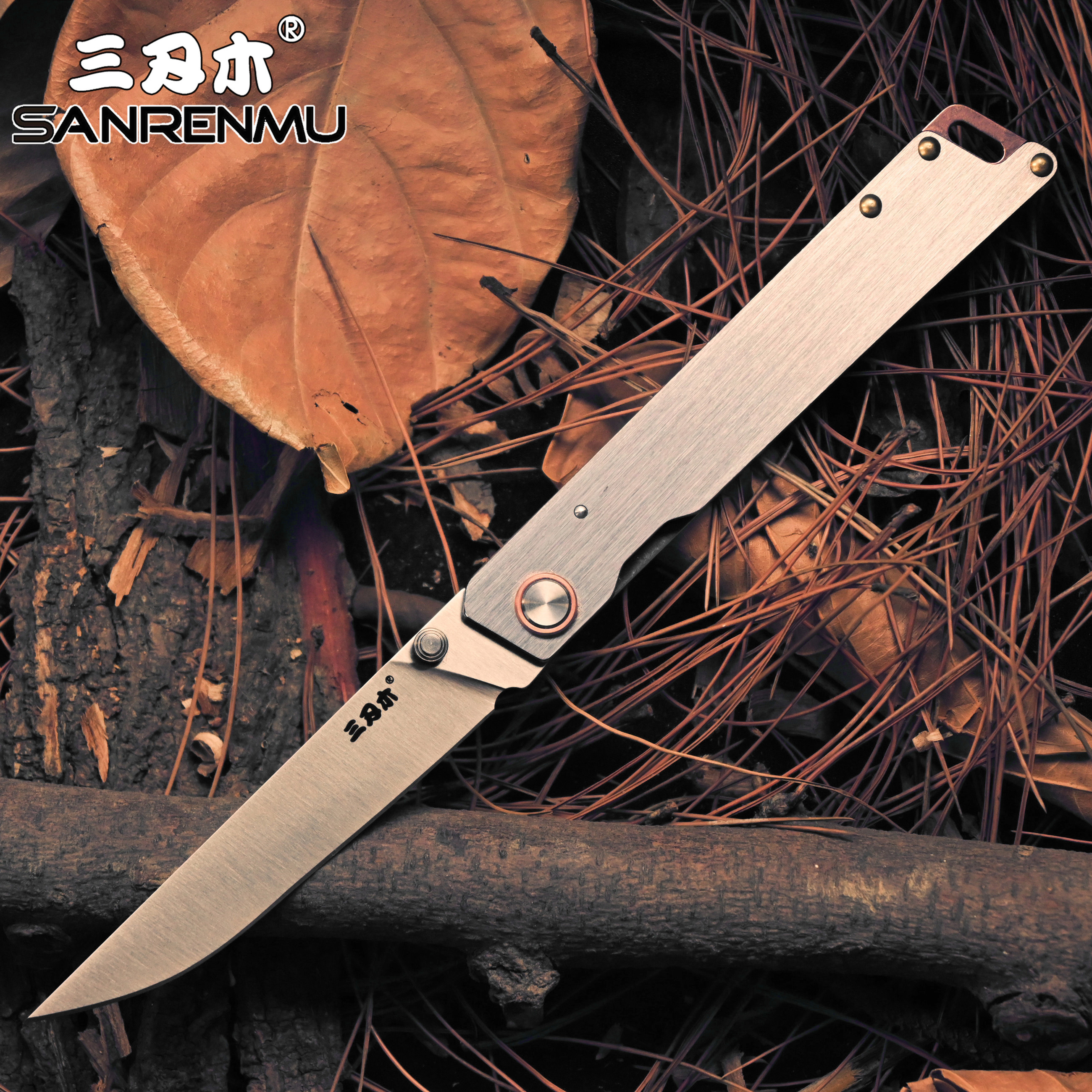 SANRENMU 2020 NEW 9301 Pocket Folding Knife 8Cr14MOV Steel Mini Outdoor Camping  Survival Tactical  Tool EDC KNIVES