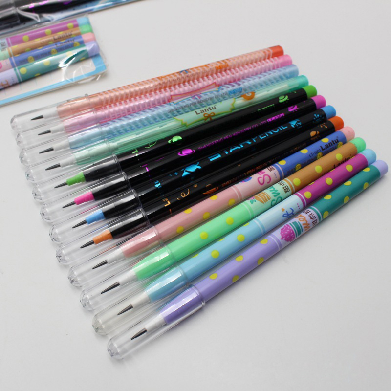 4PCS/Set Non-sharpening Pencil Cute Stationery Cartoon Pencil Plastic Pencil Student School Office Stationery(China)