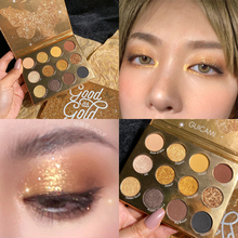 12 Color Gold Eyeshadow Palette Matte Shimmer Holographic Diamond EyeShadow Pallete Glitter Pigmented Makeup Palette Cosmetic professional 28 color eyeshadow palette glitter shimmer matte eyeshadow pallete pigmented smoky metallic makeup palette cosmetic