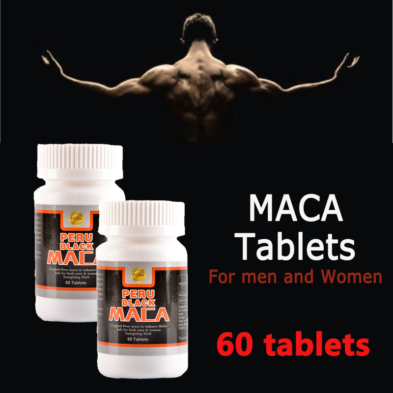 60 caps/bottle, 2 bottles/lot, peru black maca root extracts for both men and women