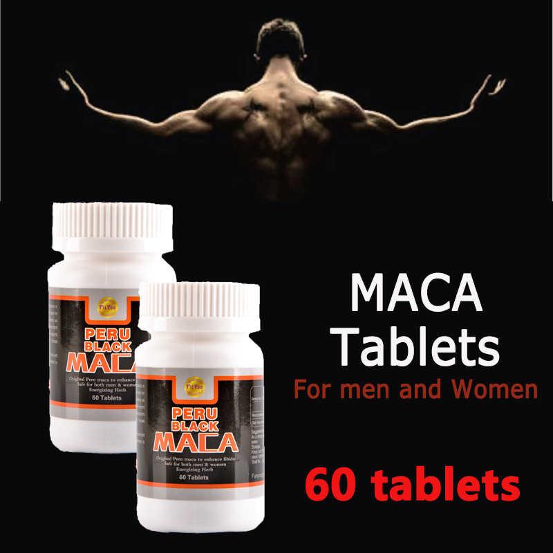 60 caps/fles, 2 flessen/lot, peru zwart maca wortel extracten voor zowel mannen en vrouwen