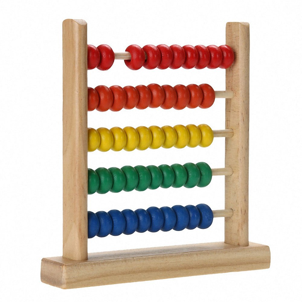 Colorful Wooden Abacus Math Toy Kids Children Number Counting Toy Early Educational Calculating Beads Gift Boys Girls Montessori(China)