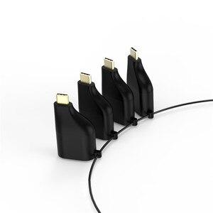 Image 2 - סוג C כדי HDMI 4K 60HZ מתאם USB C כדי VGA DP מיני DP ממיר זכר לfemal עם Keychain סגנון עבור MacBook 2017 Galaxy S9