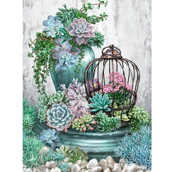 5D flower round/square Cross Stitch DIY Diamond Painting Diamond Embroidery kits Diamond Mosaic home Decorative drill image