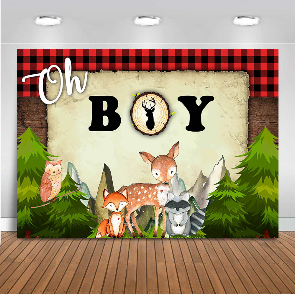 Safari Jungle Party Backdrop for Photography Newborn Bay Background for Photo Booth Studio Children Theme Party Decoration Prop