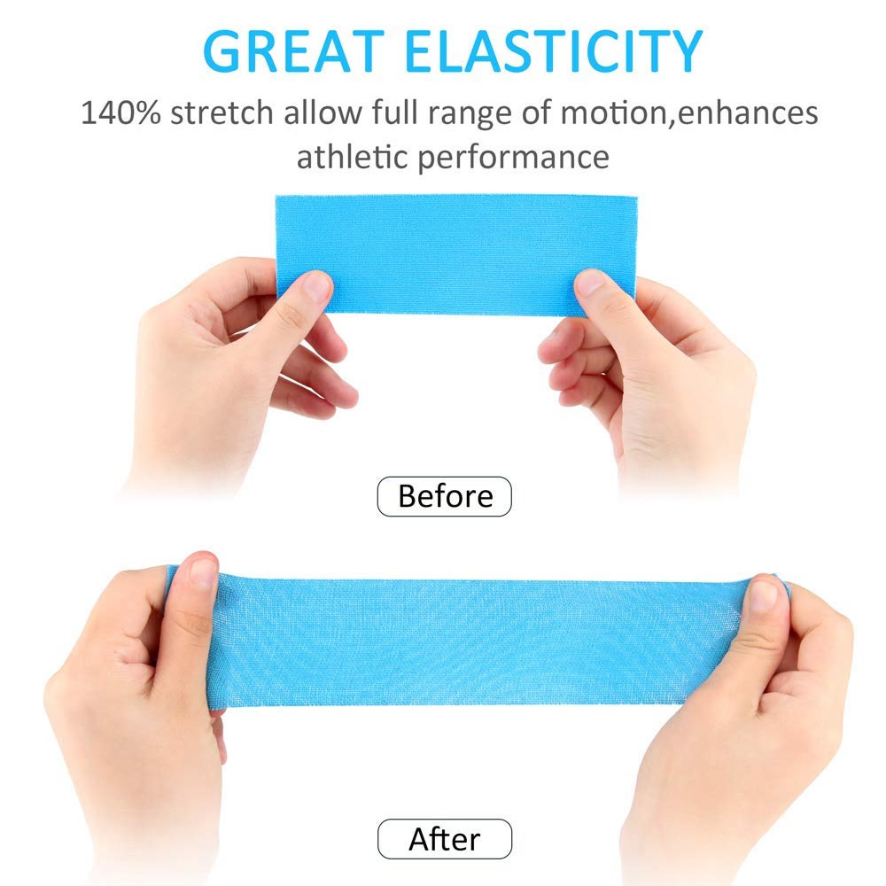 10Rolls 5cm*5m Therapeutic Sports Kinesiology Tape Waterproof Elastic Muscle Tape for Weightlifting Shoulder Knee Elbow Ankle 3