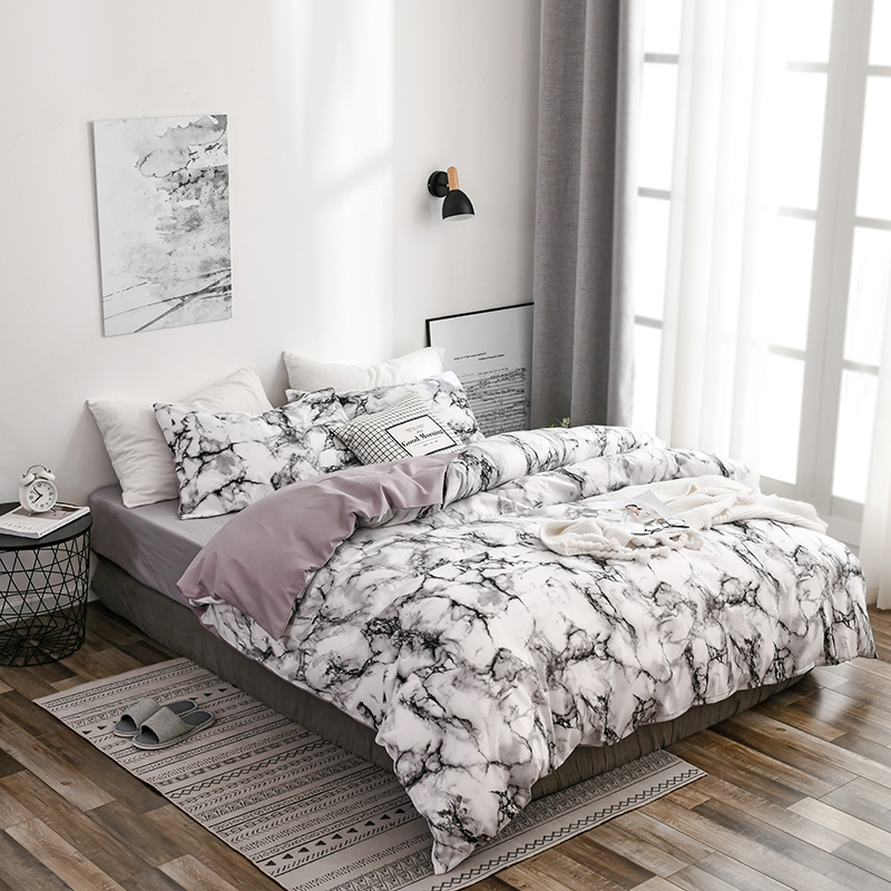 Luxury Twin FUll Queen King Size Soft Duvet Cover Polyester Cotton Quilt Cover Pillowcase Bedding Set