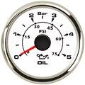 52 мм указатель давления масла манометры 0-5Bar водонепроницаемый датчик давления масла 0-75psi ЖК-дисплей для авто, грузовик, лодка судно яхта RV