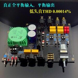 NEW E600 Full Balanced Input Balanced Output Headphone amplifier TPA6120 Ultra low noise JRC5532 Op Amplifier board