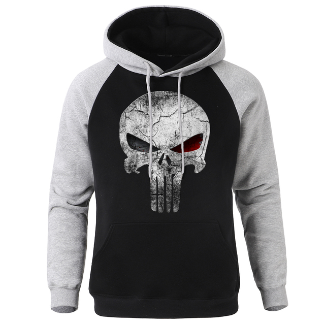 SKULL PUNISHER THEMED HOODIE (4 VARIAN)