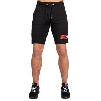 Men Running Sport Cotton Shorts Gym Fitness Workout Training Sportswear Male Short Pants Knee Length Beach Sweatpants Bottoms 2