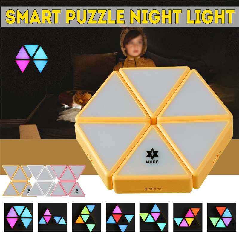 Chameleon Intelligent Building Block Light Toy Touch Sensor Color Changing Toy Lamp Gift Colorful Color Smart Light