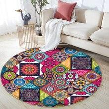 Cn decoração tapetes antiderrapantes mandala estilo colorido padrão floral tapete sala de estar banheiro