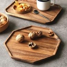 Деревянный поднос может быть использован как фруктовое блюдо десертная тарелка пищевая тарелка Салатница поднос идеально подходит для рождества благодарения свадеб