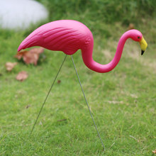 Gardening Decor Artificial Flamingo Decoration Garden 3pcs/Lot Outdoor Landscape Design Animal Model Bird Ornaments