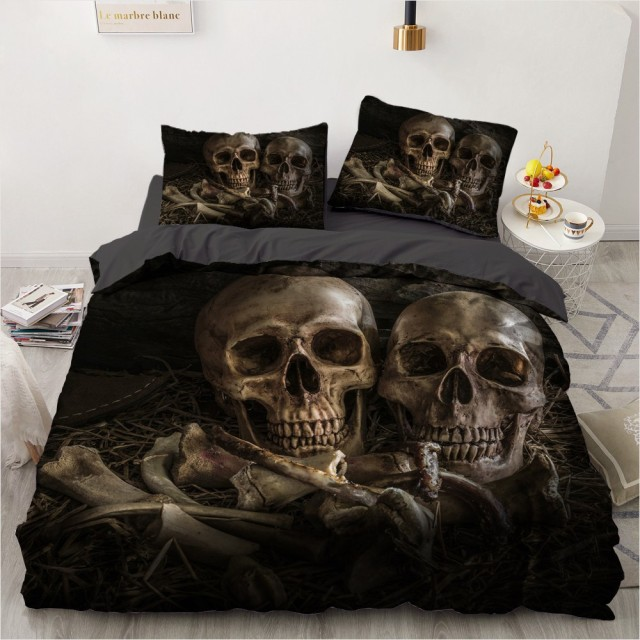 3D SKULL BEDDING SETS (14 VARIAN)