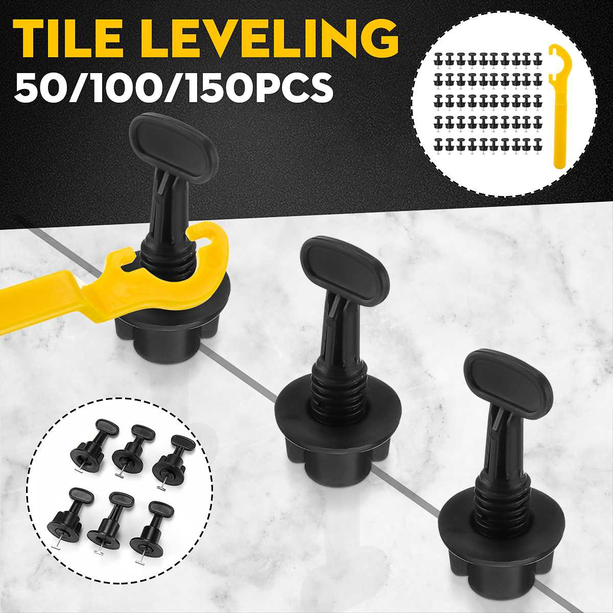 50PCS Tile Levellers Mini Level Wedges Alignment Tile Spacers For Wall Floor Tiles Carrelage Leveling Leveler Locator Spacers