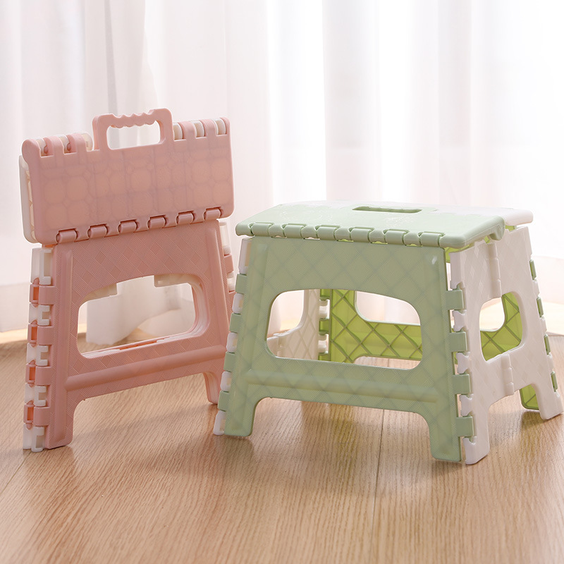 Plastic Children's Stools Multi Purpose Folding Stool Home Outdoor Portable Storage Camp Stool Shoe Bench Living Room Small Seat