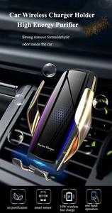 Image 2 - 공기 청정기 자동차 무선 충전기 제나라 자동 클램프 빠른 충전 마운트 화웨이 P30Pro Mate30 iphonex11 XR XS MAX X
