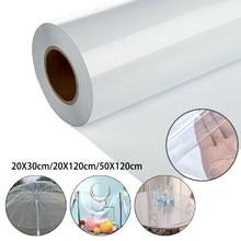 50*120cm rolo claro ultra-transparente pvc tecido pano de vidro macio à prova dwaterproof água cristal diy artesanato decoração protetora 2020 novo arrivla