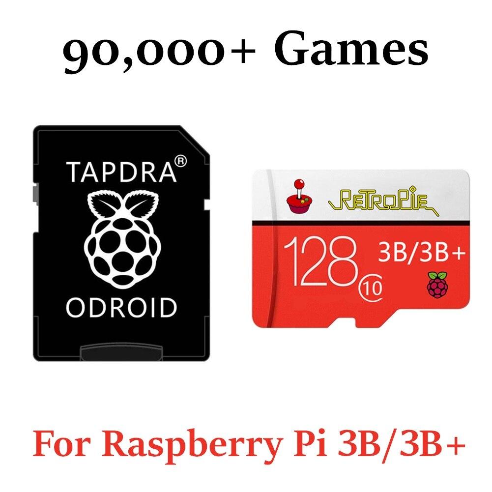 128G RetroPie 90000 + игр, карта MicroSD для Raspberry Pi 2, 3 & 3B + эмуляционная станция