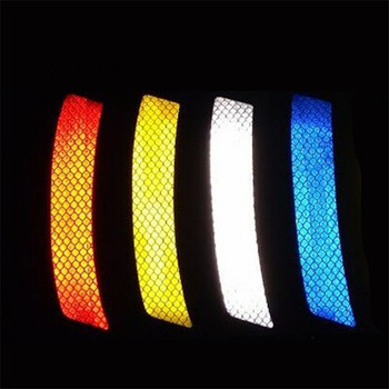 NEW 2Pcs Car Wheel Rim Eyebrow Reflective Warning Strip Stickers Safety Warning Light Reflector Protective Sticker Car-Styling image