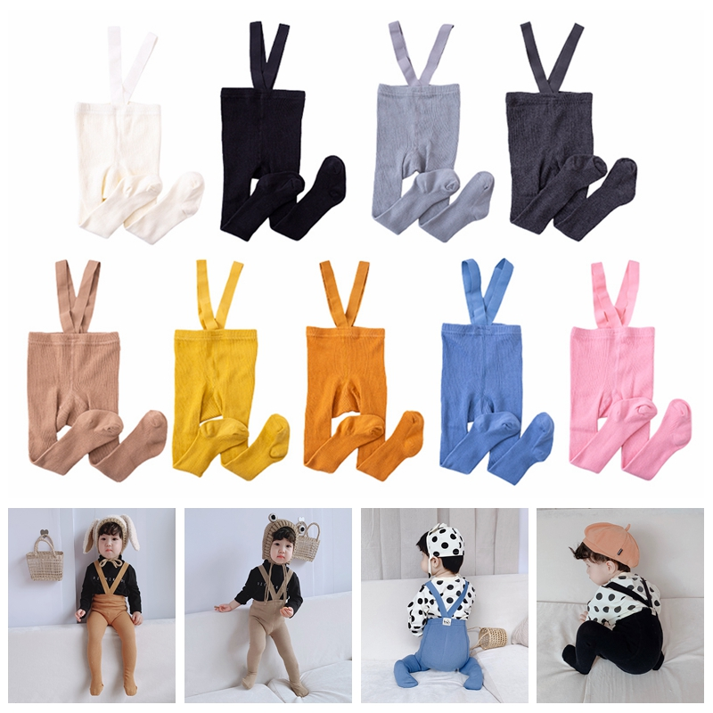 Baby Girls Tights Casual Cotton Warm Tight Autumn Spring Kids Infant Children Tights Strap Stockings