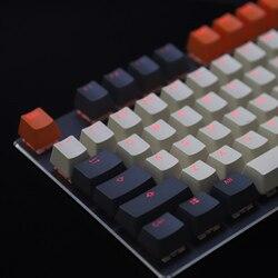 PBT Doubleshot блестящая подсветка 96 колпачков клавиатуры из углеродного волокна Майами для MX механическая клавиатура Melody 96 KBD75 68 61 87 104 Keychron