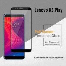 2 шт полностью проклеенное стекло для lenovo K5 PLAY, закаленное стекло для lenovo K5 PLAY, Защитная пленка для экрана