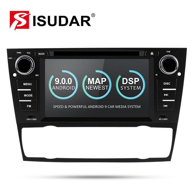 Isudar 2 DINวิทยุAndroid 9 สำหรับBMW/320/328/3 Series E90/E91/E92/e93 รถมัลติมีเดียเครื่องเล่นดีวีดีGPS Navigation DVR FM