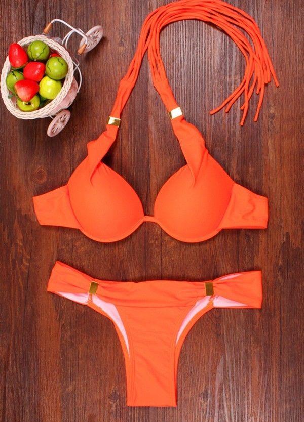 2021 Summer New Bikinis Women Padded Push-up Bikini Set Beach Swimsuit Bathing Suit Swimwear Beachwear Womens 6