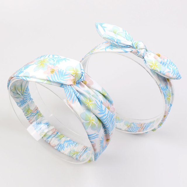 spring blues chiffon headband
