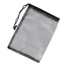 4 pçs durável malha drawstring bags redes sacos bolsa tênis transporte titular armazenamento drawstring encerramento saco não inclu