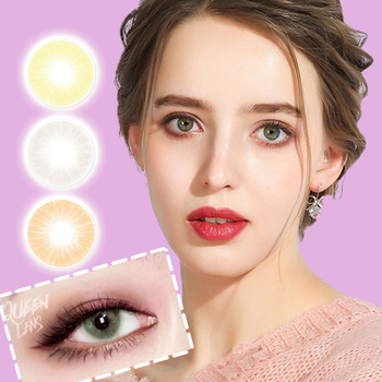 Aurora Colored Women Contact Lens Cosmetic Makeup Soft Student Korea Solotica Contact Lens for Women Path 14.5mm Cosplay Girl image